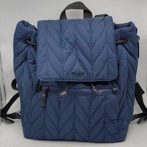 Kate Spade Large Ellie Flap Backpack Nightcap Blue